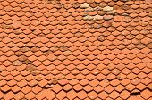 picture of red roof tile  - Background texture with red - JPG