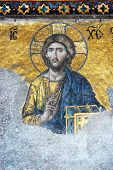 pic of constantinople  - Mosaic of Jesus Christ Hagia Sofia in Istanbul Constantinople Turkey - JPG