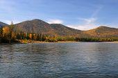 picture of siberia  - Taiga river in Eastern Siberia - JPG