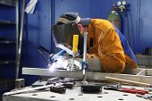 pic of welding  - Close up of craftsman welding - JPG