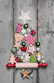 picture of shabby chic  - Christmas tree  - JPG