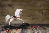 foto of wooden horse  - Vintage  - JPG