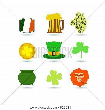 St. Patrick's Day set icon