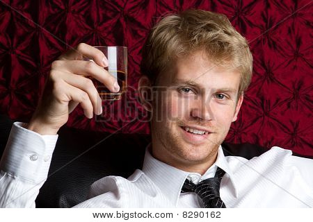 Young Man Drinking