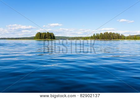 Finland lake scape at summer