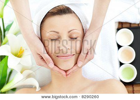 Brilliant Woman Having A Massage