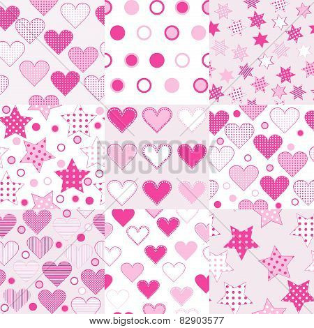 Baby Girl Seamless Background Patterns