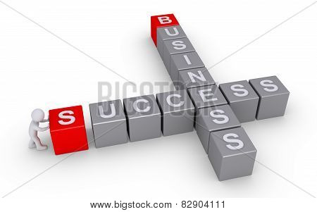 Person Forms A Success In Business Crossword