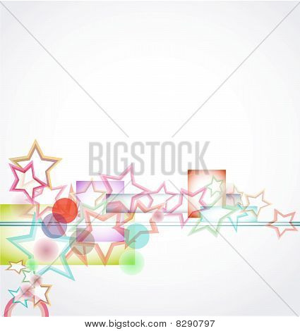 watercolor background with stars