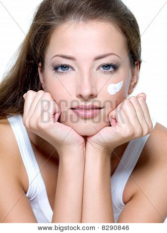 Woman Caring Of A Skin On Face