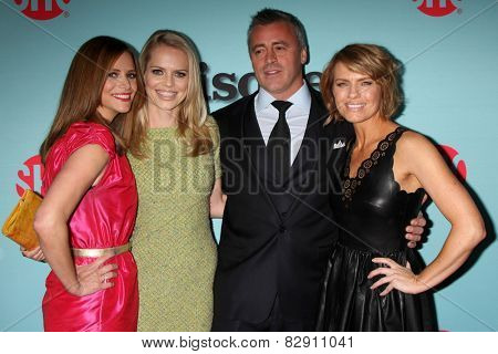 LOS ANGELES - JAN 5:  Andrea Savage, Mircea Monroe, Matt LeBlanc, Kathleen Rose Perkins at the Showtime Celebrates All-New Seasons on January 5, 2014 in West Hollywood, CA