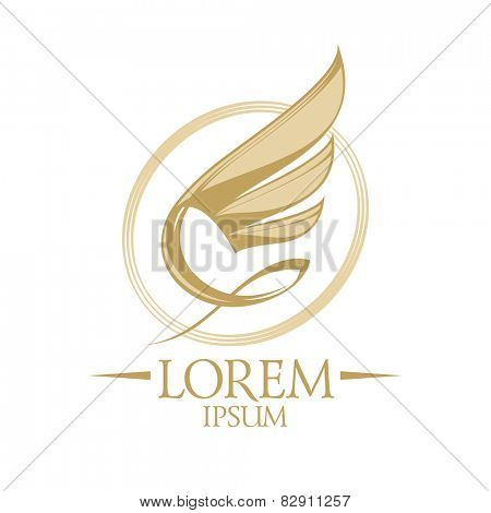 Wing in oval logo template.