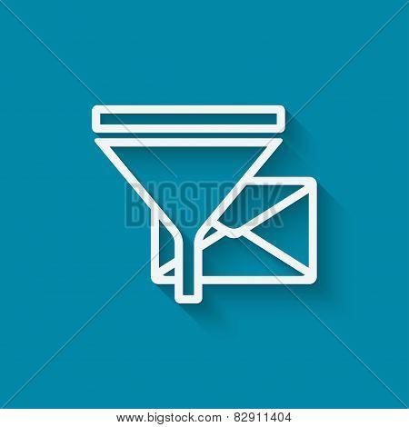 spam filter concept symbol