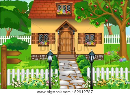 simple rustic house