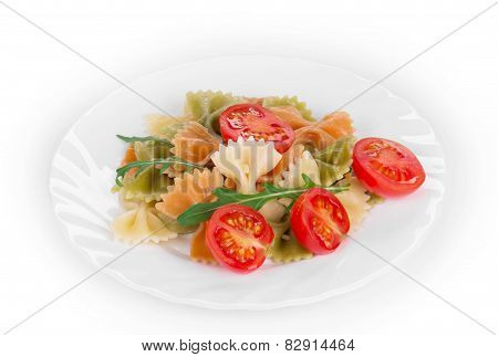 Colored farfalle