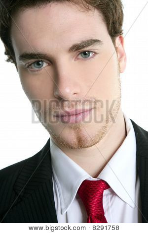 Handsome Young Businessman Portrait Tie Suit