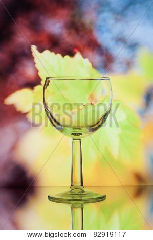 Wine Glass On Bright Background