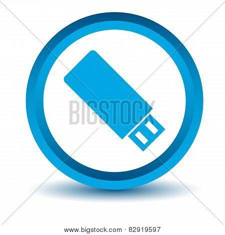 Blue flash drive icon