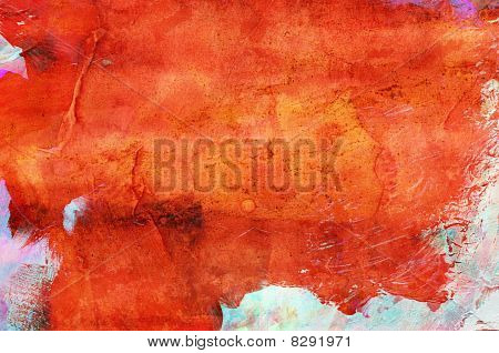 Abstract grunge paint - handmade for colorful background