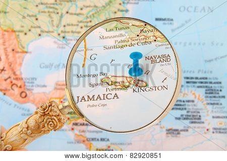 Kingston, Jamaica Map