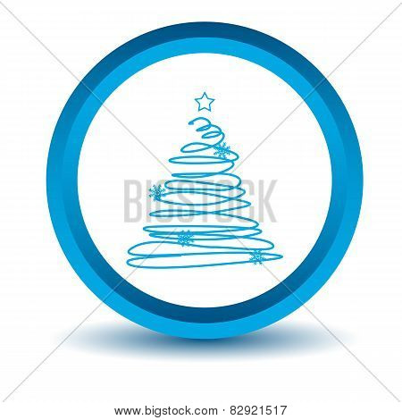 Blue fir-tree icon