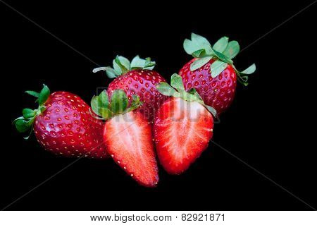 Fresh Delicious Red Strawberries