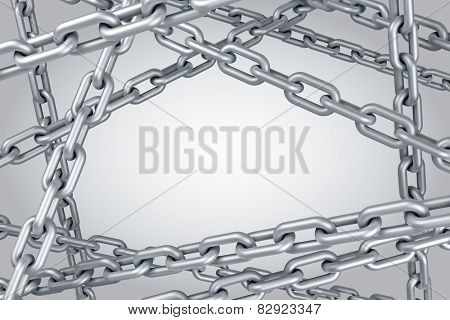 Steel chain background