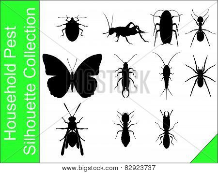 Household Pest Silhouette Collection