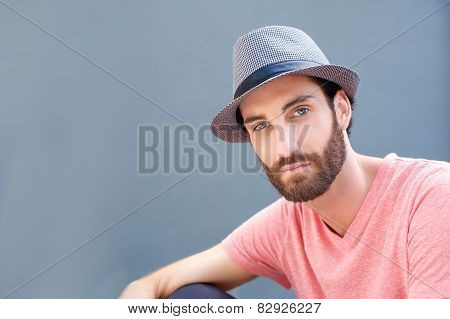 Stylish Man With Beard And Hat