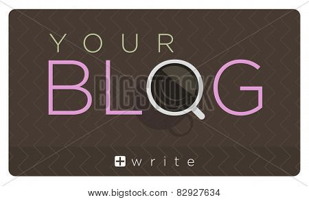 Vector illustration of blog icon with cup of coffee