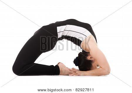 Yogi Female In Yoga Pigeon Pose
