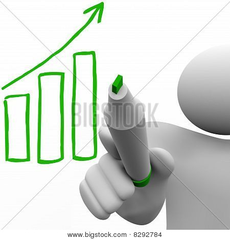 Drawing Growth Bar Chart On Board