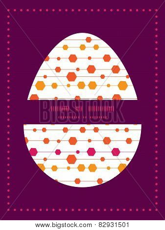 Vector abstract colorful stripes and shapes Easter egg sillhouette frame card template