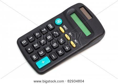 modern calculator on a white background