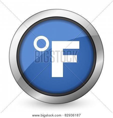 fahrenheit icon temperature unit sign