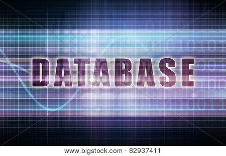 Database on a Tech Business Chart Art