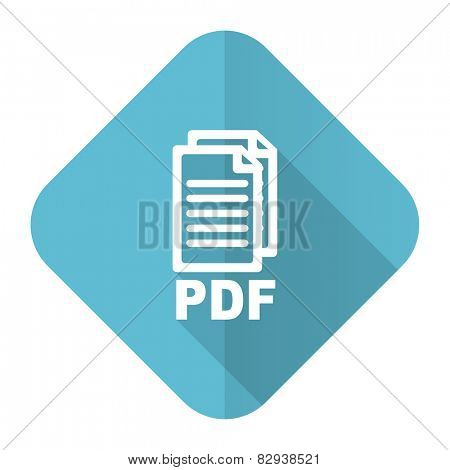 pdf flat icon pdf file sign