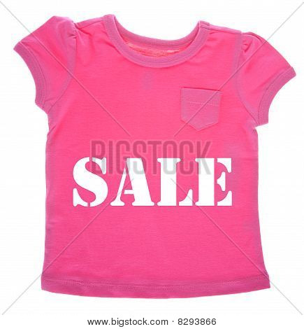 Pink Tee Shirt With Sale Message