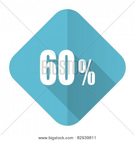 60 percent flat icon sale sign
