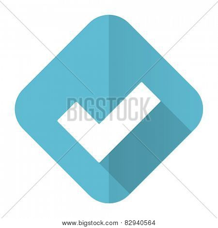accept flat icon check sign