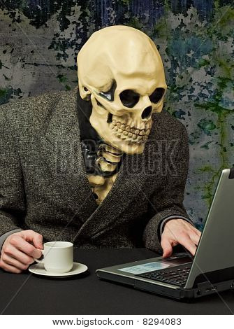 Terrible Person - Skeleton Uses Internet