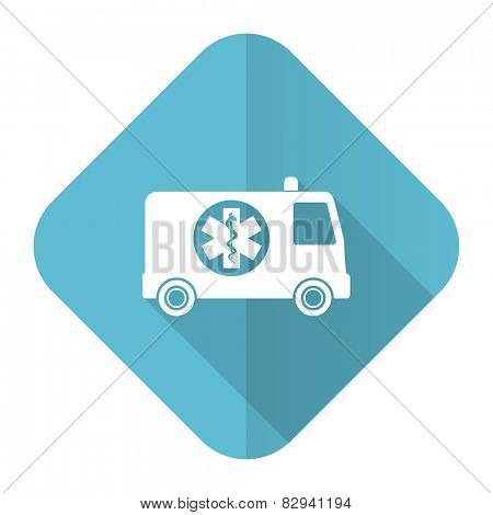 ambulance flat icon