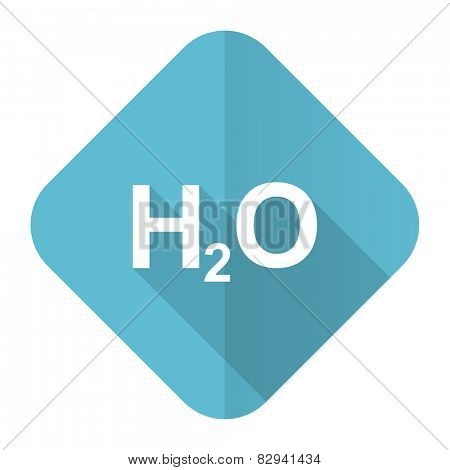 water flat icon h2o sign