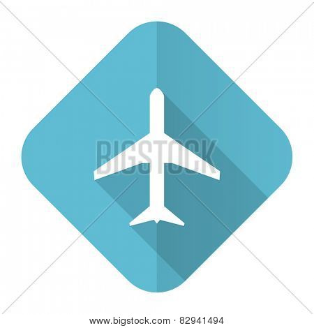plane flat icon airport sign