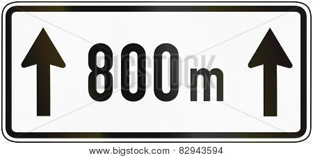 For 800 Meters