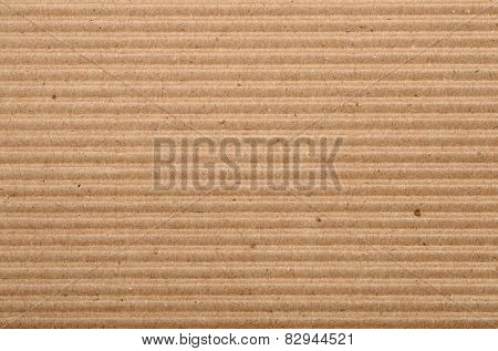 Horizontal  background of corrugated cardboard