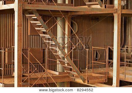 Industrial Rusty View - Boiler-house Ruins
