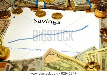savings growing or rising