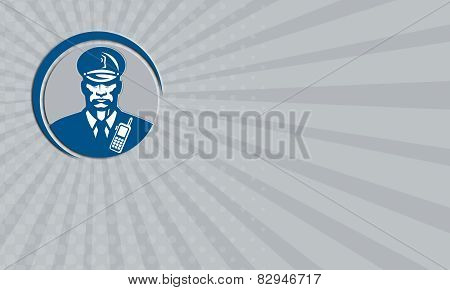 Business Card Security Guard Police Officer Radio Circle