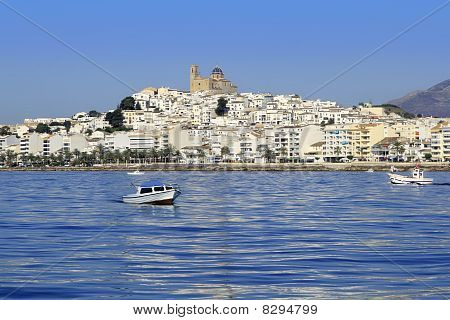 Altea Alicante Province Spain View From Blue Sea